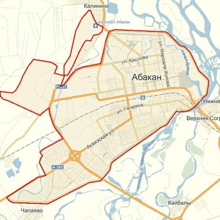 карта абакана скачать