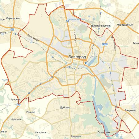скачать карту белгорода с улицами и номерами домов бесплатно