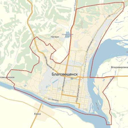 Карта Благовещенска С Улицами И Номерами Домов