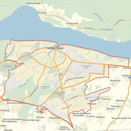 Интерактивная карта Чебоксар