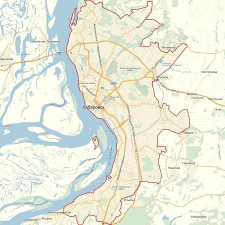 Интерактивная карта Хабаровска