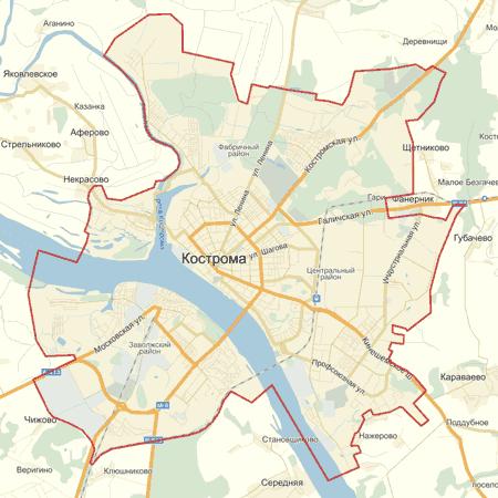 Интерактивная карта Костромы