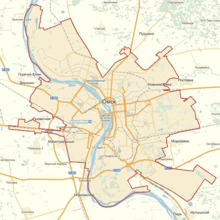 Карта Омска Скачать - фото 2
