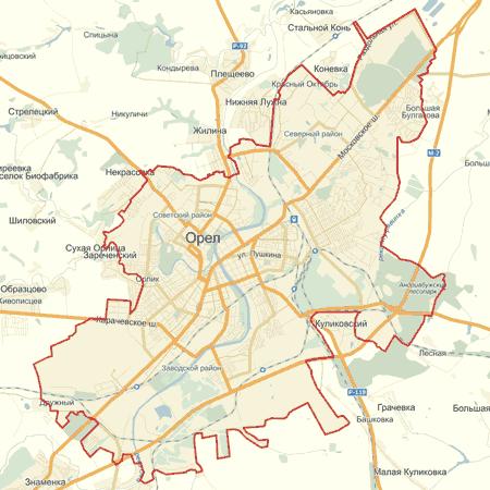 Интерактивная карта Орла