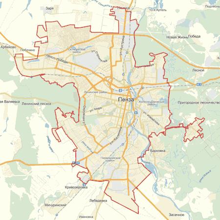 Карта москвы с улицами и домами панорама