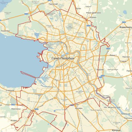 Интерактивная карта Санкт-